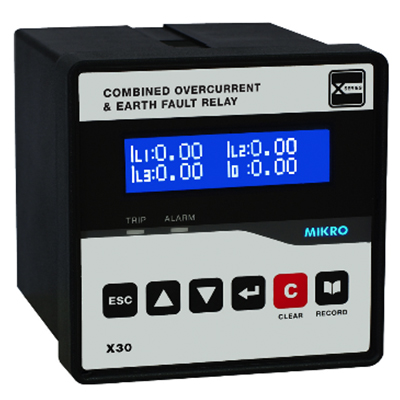 X30 Series- Combined Overcurrent & Earth Fault Relay